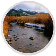 Headwaters Of The River Of No Return Round Beach Towel