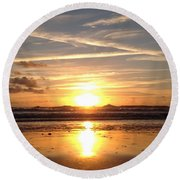 Healing Angel Round Beach Towel