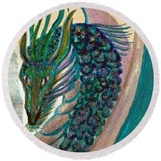 Healing Dragon Round Beach Towel