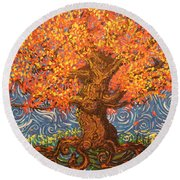 Healthy At Home Tree Round Beach Towel