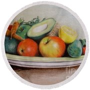 Healthy Plate Round Beach Towel