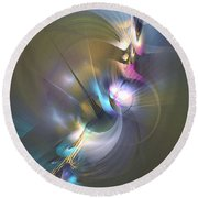 Heart Of Dragon - Abstract Art Round Beach Towel
