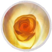 Heart Of The Rose Round Beach Towel by Peggy Hughes