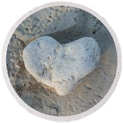 Heart Stone Photography Round Beach Towel