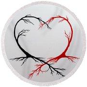Heart Trees - Arteries Of Love Round Beach Towel