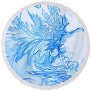 Heart Wing Round Beach Towel