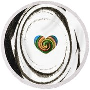Heart Within Round Beach Towel by Catherine Lott
