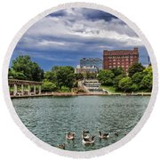 Heartland Of America Park Round Beach Towel by Elizabeth Winter