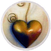 Heartswirls Round Beach Towel by RC deWinter