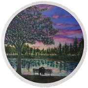 Heartwell Park Round Beach Towel