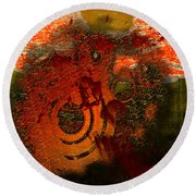 Round Beach Towel featuring the digital art Heat Of Battle by Clayton Bruster