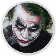Heath Ledger The Dark Knight Round Beach Towel