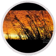 Round Beach Towel featuring the photograph Sunset Heaven And Hell In Beaumont Texas by Michael Hoard