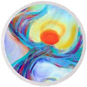 Heaven Sent Digital Art Painting Round Beach Towel