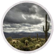 Heavenly Desert Skies  Round Beach Towel by Saija  Lehtonen
