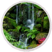 Heavenly Falls Serenity Round Beach Towel