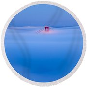 Heavenly Gate Round Beach Towel