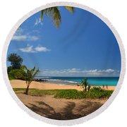 Heavenly Haena Beach Round Beach Towel