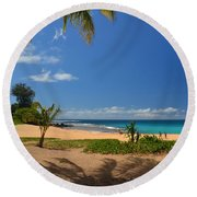 Heavenly Haena Beach Round Beach Towel