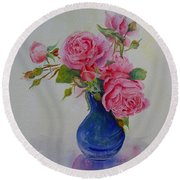 Heavenly Summer Round Beach Towel by Beatrice Cloake