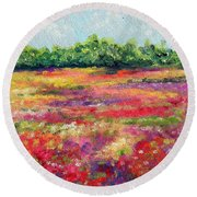 Heaven's Breath Round Beach Towel by Meaghan Troup