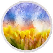 Heaven's Garden Round Beach Towel