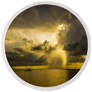 Heavens Window Round Beach Towel