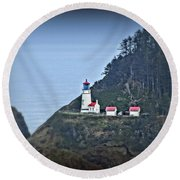 Heceta Head Light House Round Beach Towel