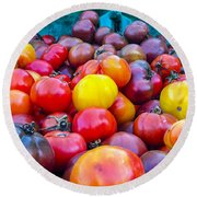 Heirloom Tomatoes V. 2.0 Round Beach Towel