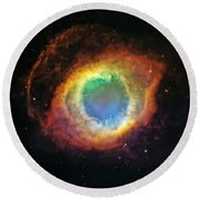 Helix Nebula 2 Round Beach Towel by Jennifer Rondinelli Reilly - Fine Art Photography