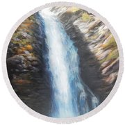 Hell Roaring Falls Round Beach Towel