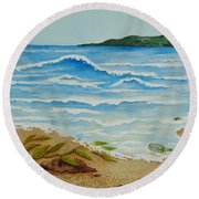 Hello? Round Beach Towel
