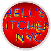 Hell's Kitchen Nyc Round Beach Towel by Ed Weidman
