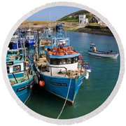 Helvick Harbour, Ring Gaeltacht Region Round Beach Towel