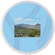 Round Beach Towel featuring the photograph Henderson Nevada Desert by Emmy Marie Vickers