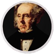 Henry John Temple, 3rd Viscount Palmerston, C.1855 Oil On Canvas Round Beach Towel
