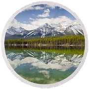 Herbert Lake Round Beach Towel by Dee Cresswell
