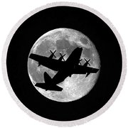 Hercules Moon Round Beach Towel