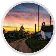 Heritage Village Round Beach Towel
