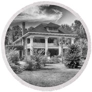 Herlong Mansion Round Beach Towel by Howard Salmon