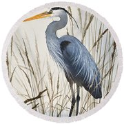 Herons Natural World Round Beach Towel