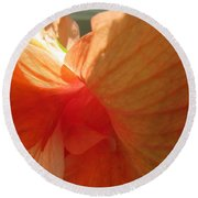 Hibiscus Butterfly Round Beach Towel