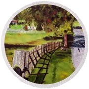 Hidden Brook Farm Round Beach Towel