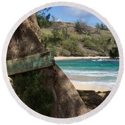 Round Beach Towel featuring the photograph Hidden Gem by Suzanne Luft