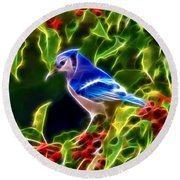 Hiding In The Berries Round Beach Towel by Stephen Younts