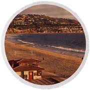 Round Beach Towel featuring the photograph High Angle View Of A Coastline, Redondo by Panoramic Images