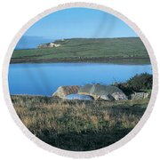 High Angle View Of Cottages Round Beach Towel