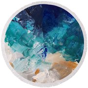 High As A Mountain- Contemporary Abstract Painting Round Beach Towel