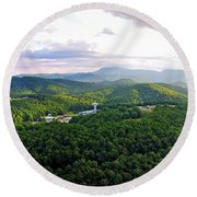 High Country 1 In Wnc Round Beach Towel