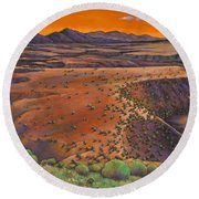High Desert Evening Round Beach Towel